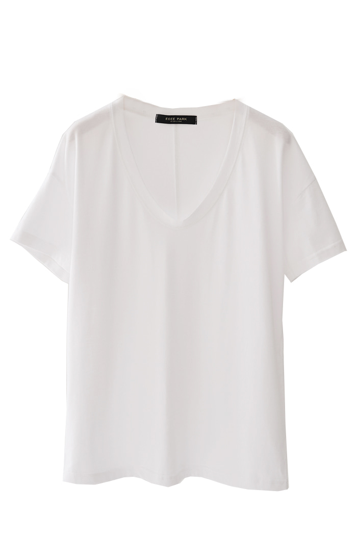 *BEST* COTTON SOLID U NECK TEE (3 COLORS)