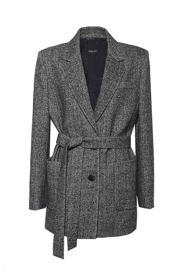 HERRINGBONE WOOL JACKET