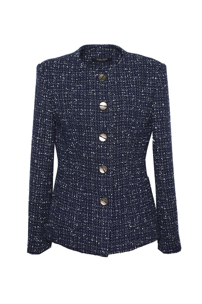 WOOL BLEND TWEED JACKET