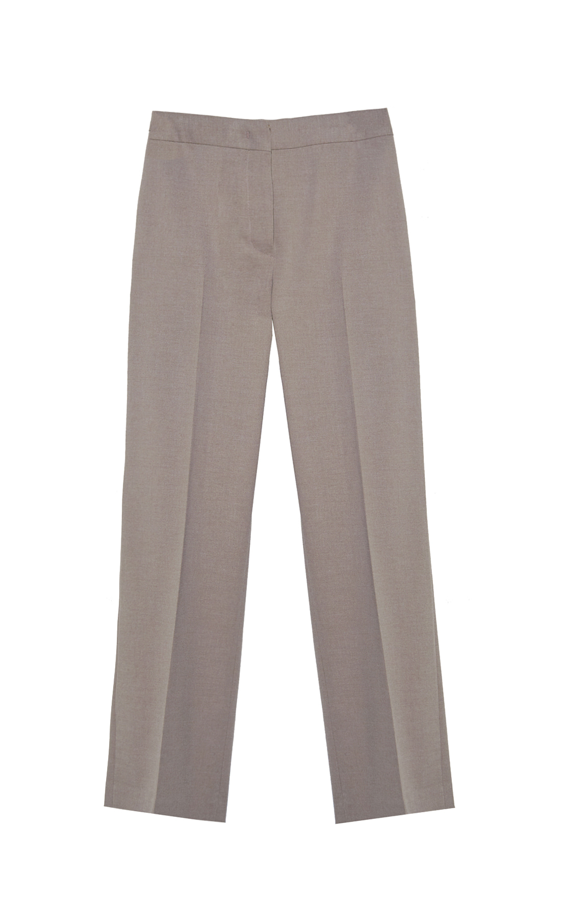 WOOL-BLEND STRAIGHT FIT TROUSERS