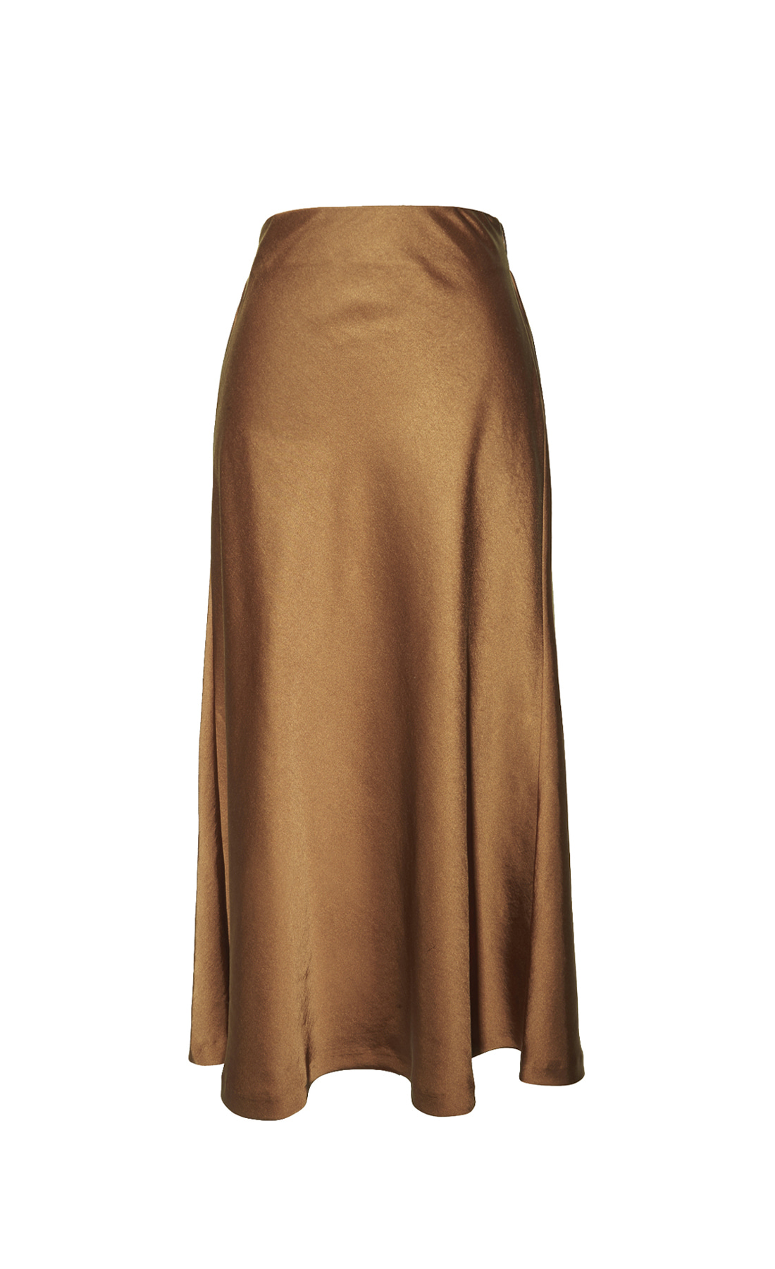 LONG SATIN BACK BANDING SKIRT