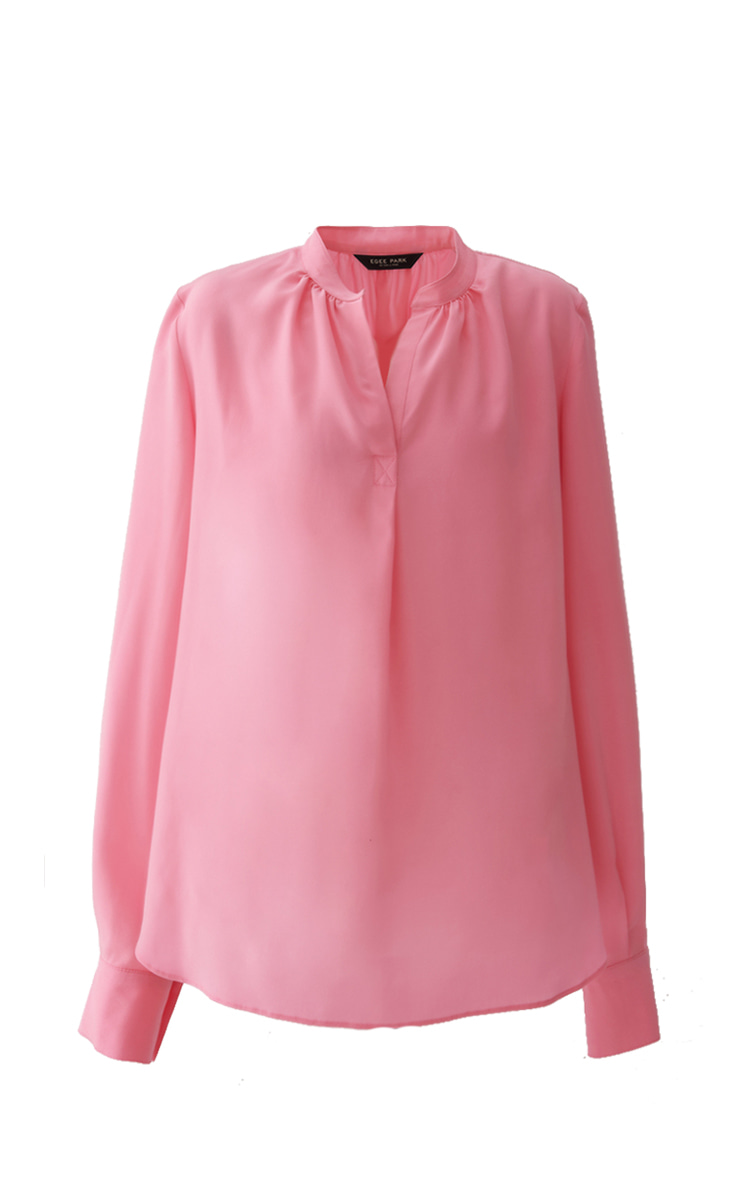 SO PINK SILK BLOUSE