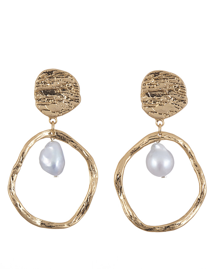 *HIT* 14K GOLD PEARL EARING