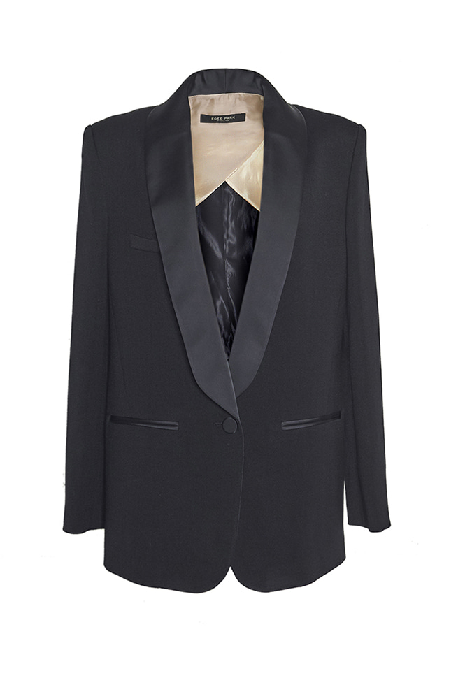 SHAWL COLLAR JACKET (BLACK)