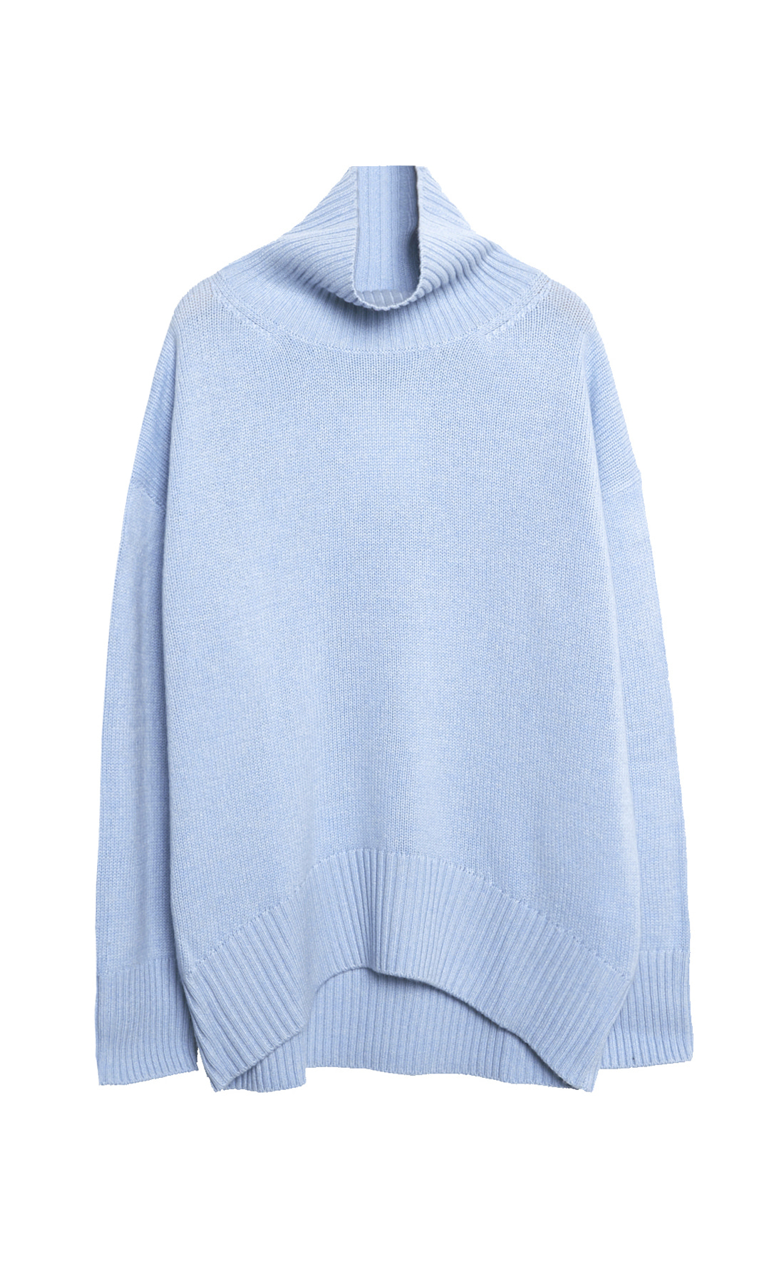 TURTLED NECK PURE CASHMERE KNIT