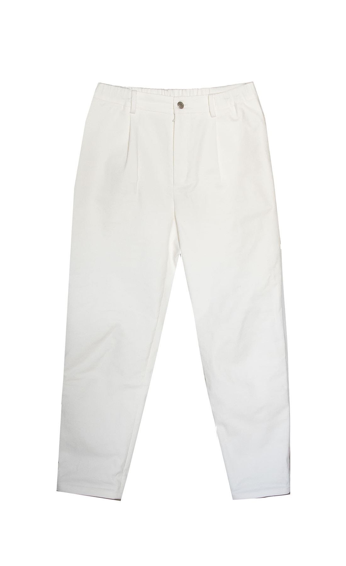 SS BACK BANDING WHITE PANTS
