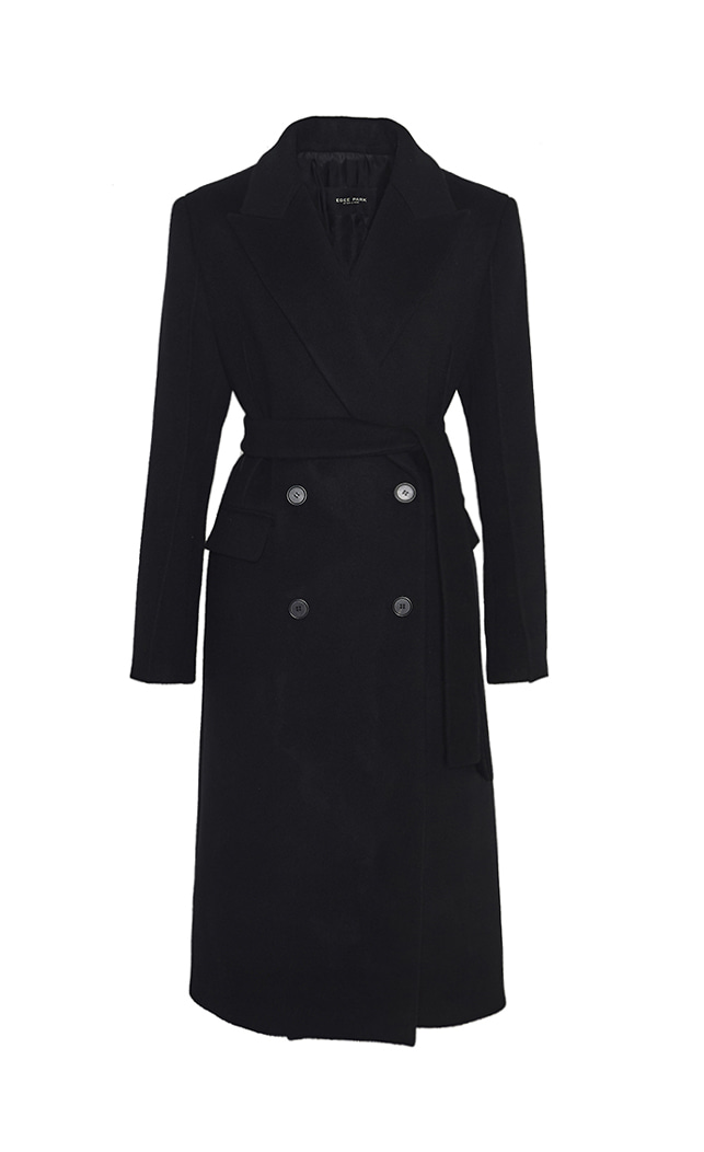 PINTUCK CASHMERE COAT