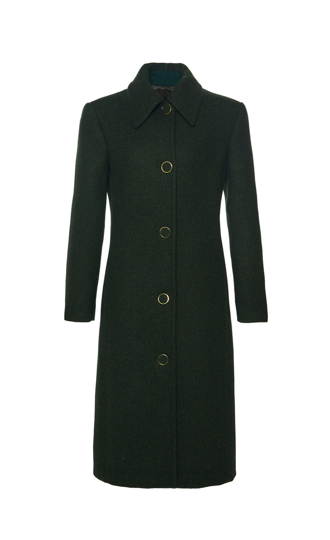 BUTTON FRONT WOOL COAT
