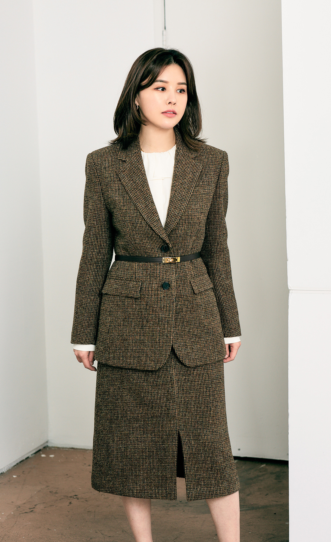 HARRIS TWEED JACKET.SKIRT