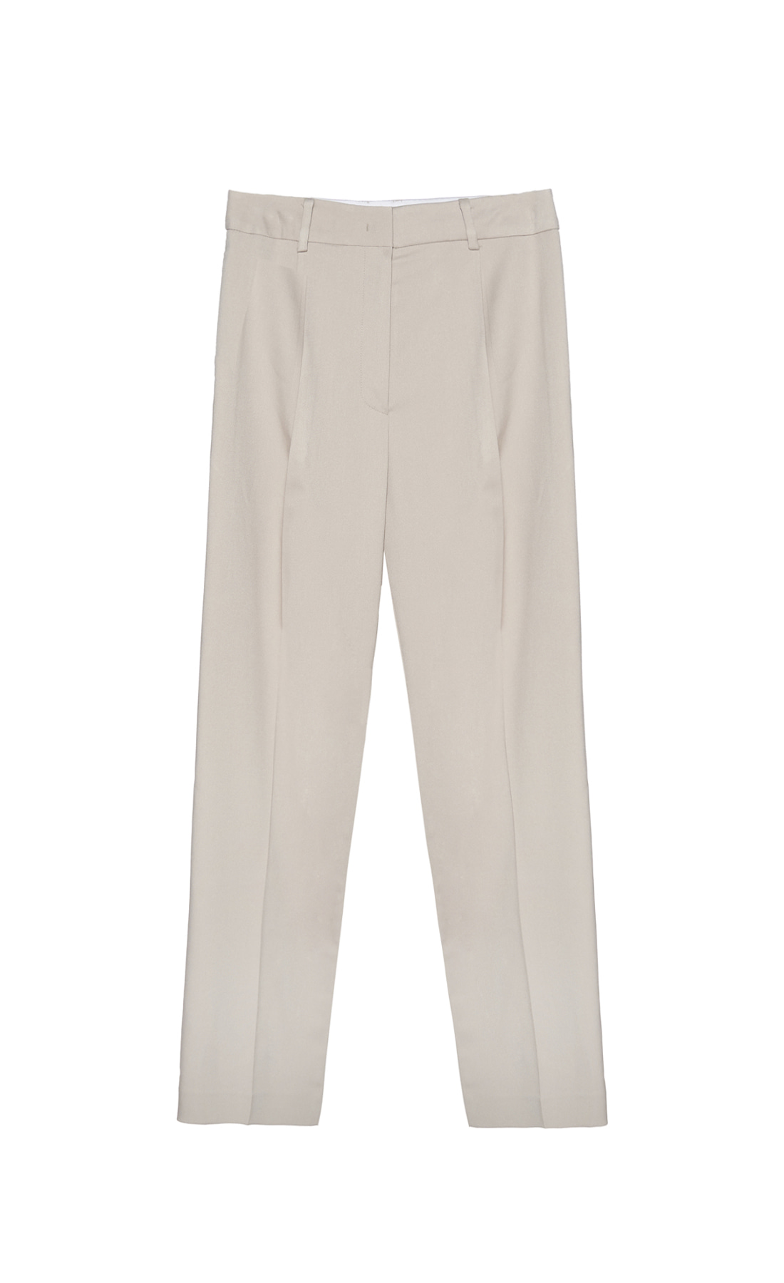 WIDE STRAIGHT TUCK PANTS