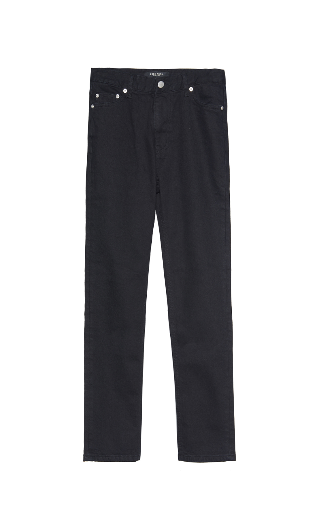 EG STRAIGHT-FIT WARM BLACK JEANS