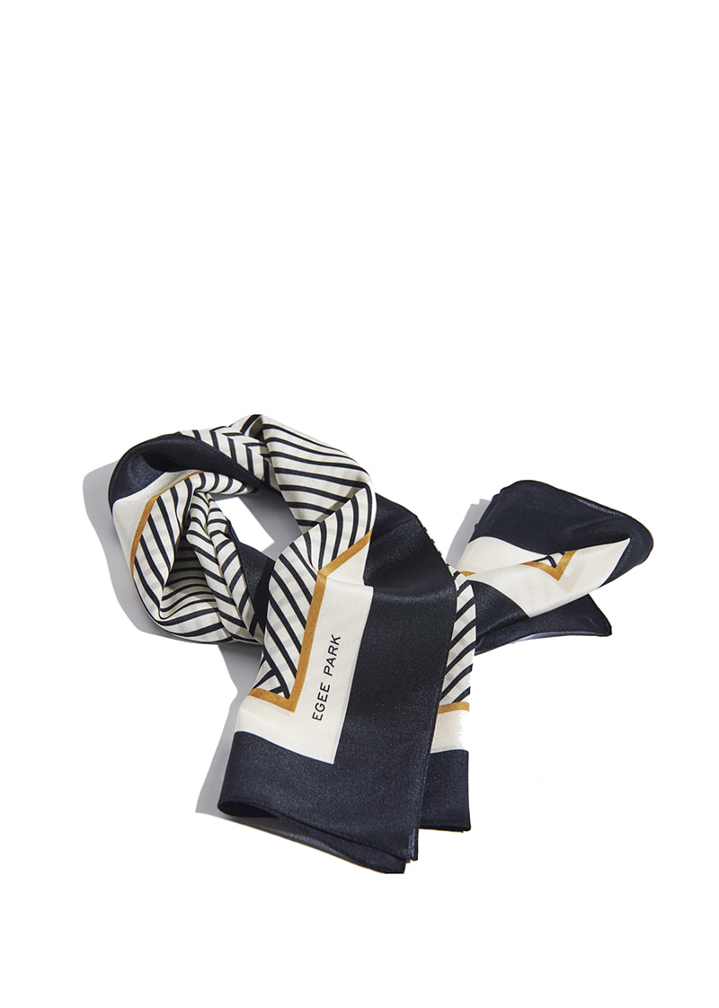 EG STRIPED SILK SCARF
